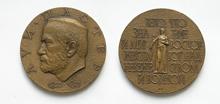 Луи Пастер (1822-1895) - d60 мм бронза