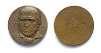 Вальтер Скотт (1771-1832) - d60 мм бронза